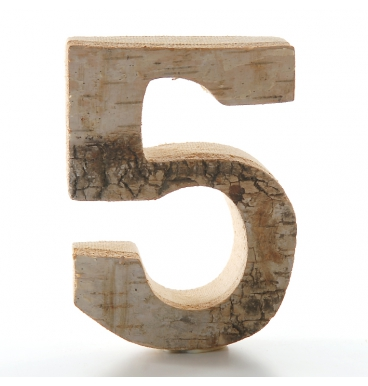 Wooden numbers aged