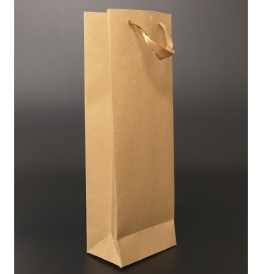 Tall brown paper bag with handles
