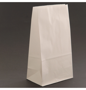 White footed paper bag