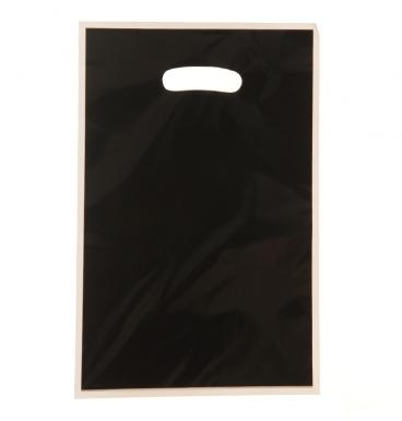 Plain black loot party bags