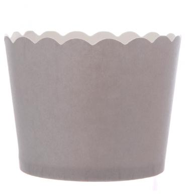 Matte grey plain cupcake holder