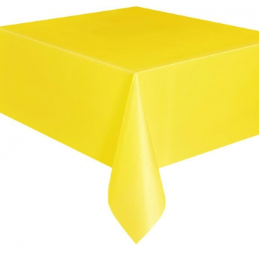 Plain yellow party table cloths