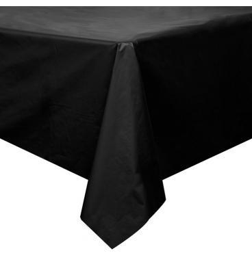 Plain black PVC table cover