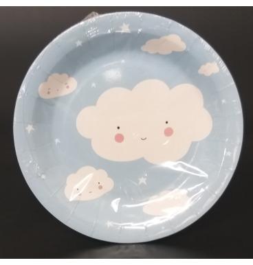 Cloud paper plates