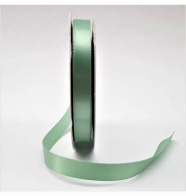 Plain green satin ribbon