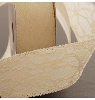 White lace ribbon roll