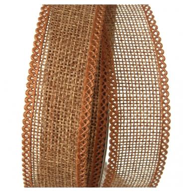 Brown hessian ribbon