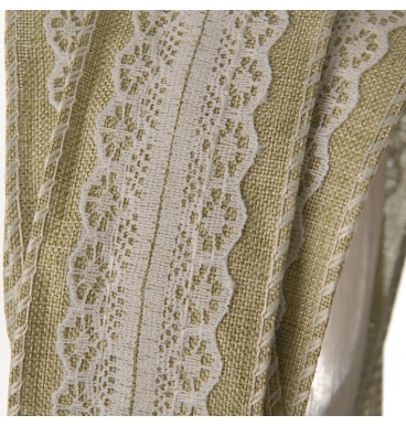 Hessian lace with centre white 1