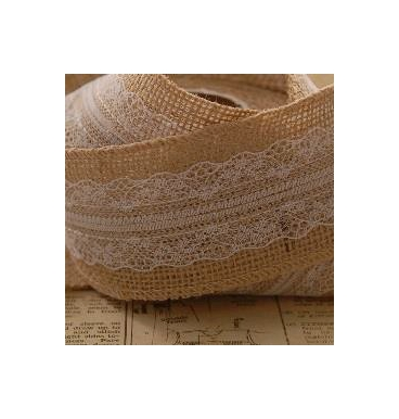 Hessian with centre lace