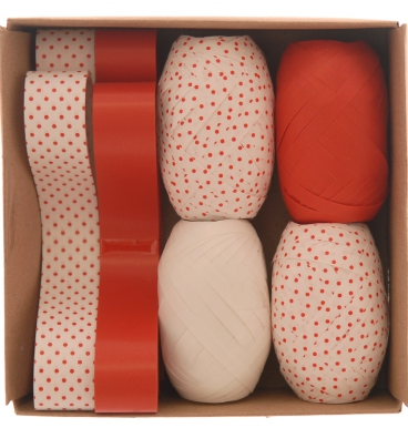 Red and white ribbon box set