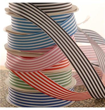 Striped petersham ribbon rolls