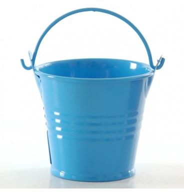 Turquoise bucket with handle