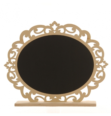 Table stand oval black board