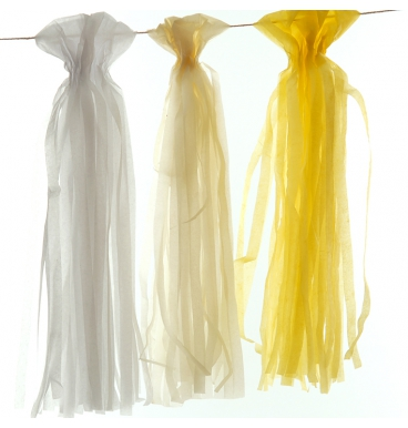 Tissue paper garland various colours