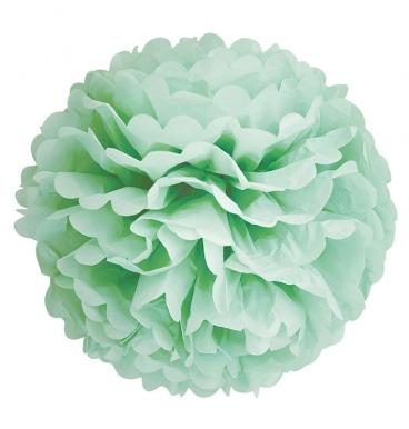 Light green tissue pom pom