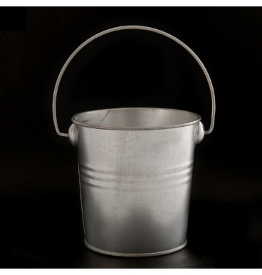 Tin galvanised with handle