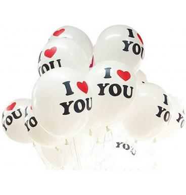 I love you white balloon