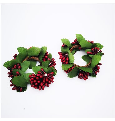 Christmas berry ring
