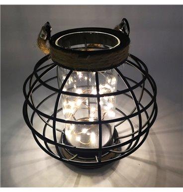 Light black holder with rope