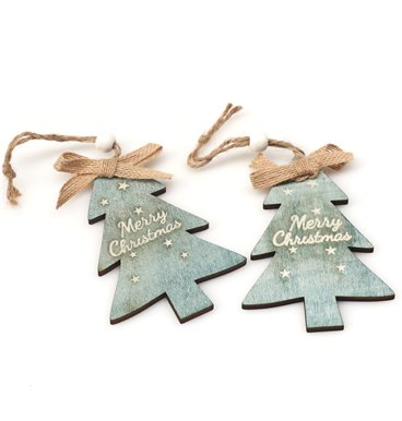 Blue christmas tree decoration