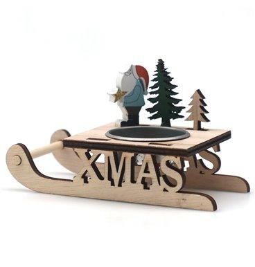 Santa sleigh candle holder