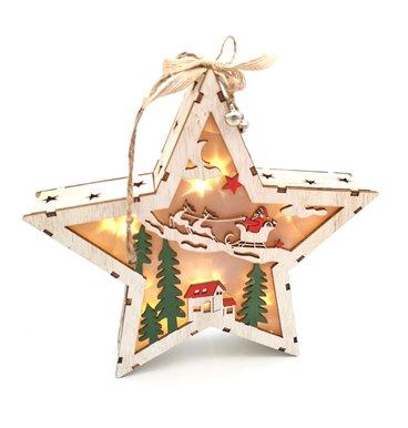 Star light 3D with santa