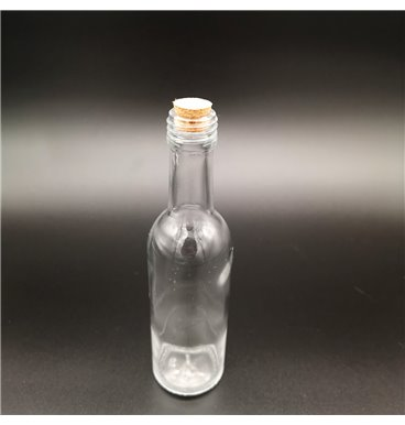 Message in a bottle glass with cork