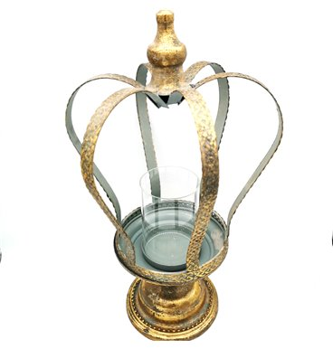Crown candle holder with gold colour