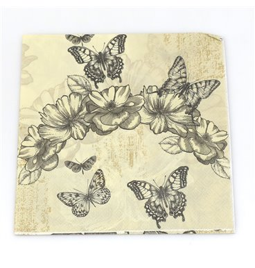 Faded butterfly antique serviettes